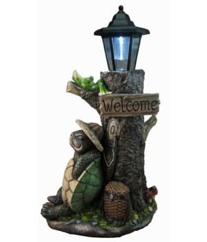 """18"""" Turtle Under Tree Lantern 1PC"""