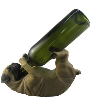 "11.5"" Pug Chug-A-Lug (Pug Wine Holder) 6"