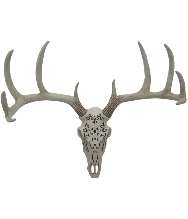 """L18.5"""" Deer Skull With Pattern 1PC"""
