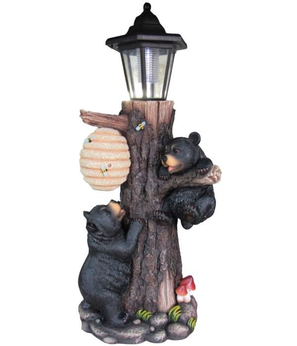 """18.5"""" Two Bears Lantern 1PC"""