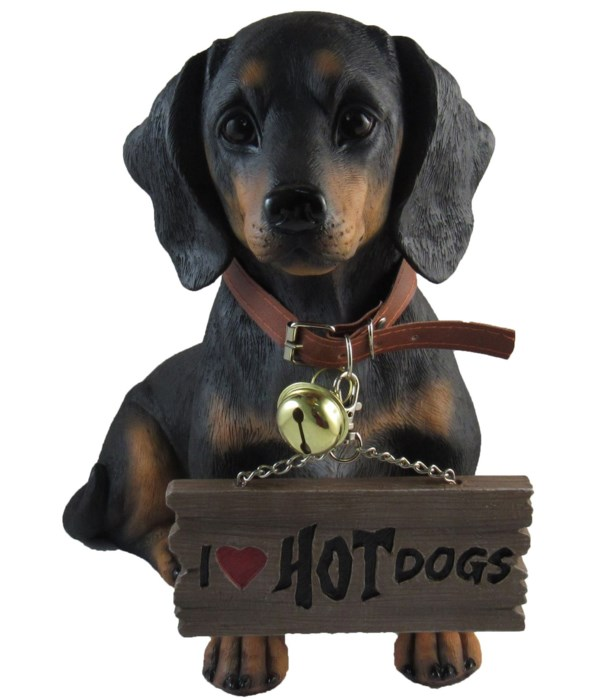 """L12.5"""" Dachshund With Sign 4PC"""