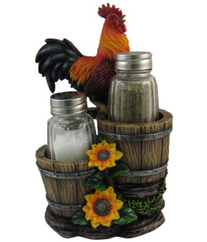 "6.5"" Rooster Salt & Pepper Holder 12PC"
