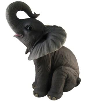 "17"" Sitting Elephant Figurine 1PC"