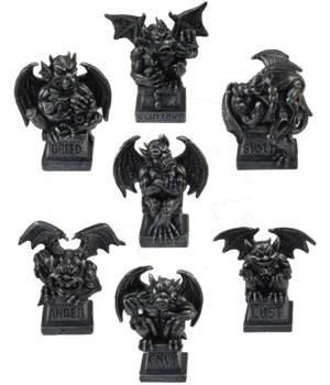 """4"""" Mini Gargoyles (7 Asst/Set 6 Sets)"""