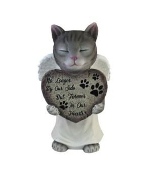 """11"""" Cat Memorial Figurine 6PC"""