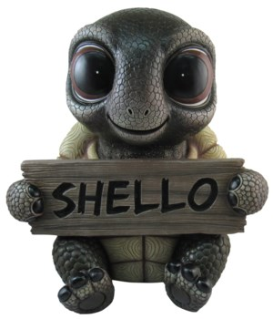 "13"" Shelby's Greeting (Turtle Sign) 1PC"