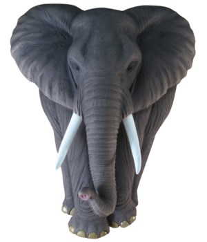 "17.5"" Elephant Full Body Wall Hanger 1PC"
