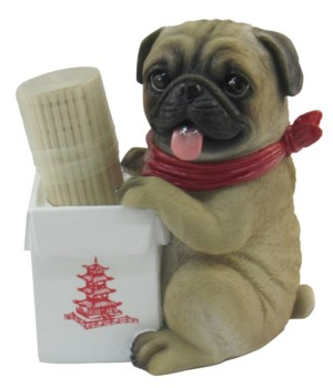 "3.5"" Pug's Takeout (Pug Toothpick Holder"