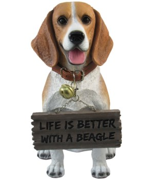 "11.5"" Beagle With Sign 4PC"