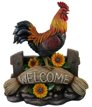 "12"" Rooster Welcome Sign 1PC"