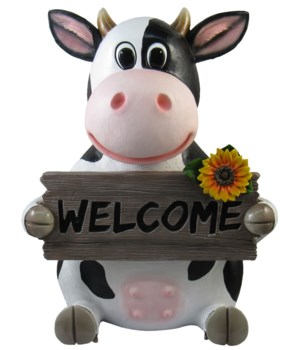 "13"" Funny Farm Welcome (Cow Sign) 1PC"