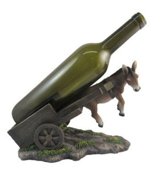 Mule With Cart Wine Holder 6PC