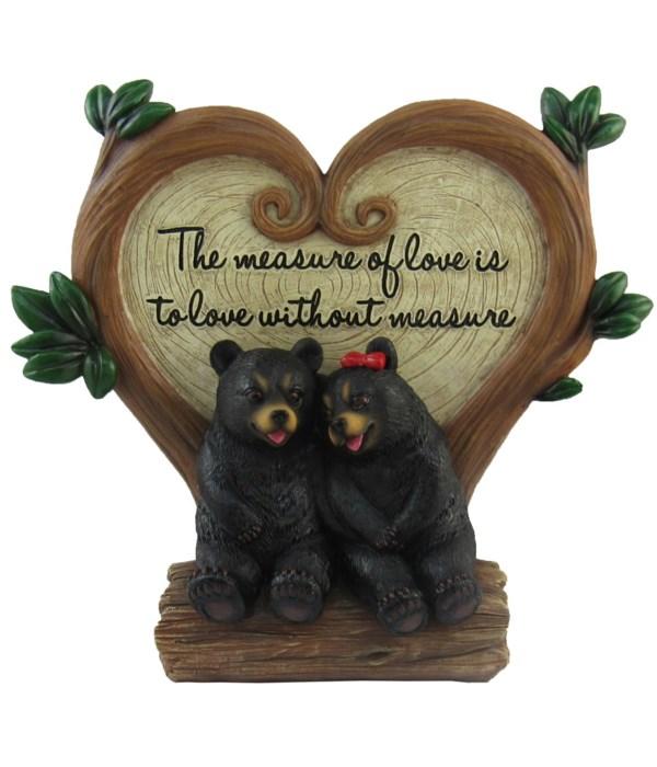 "L7.7"" Bear Couple Sign"