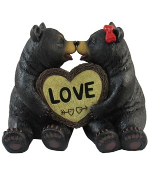 "L6"" Bear's Better Half (2 Bears/heart)"