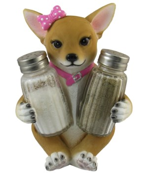 "6"" Girl Chihuahua S/P Holder 12PC"