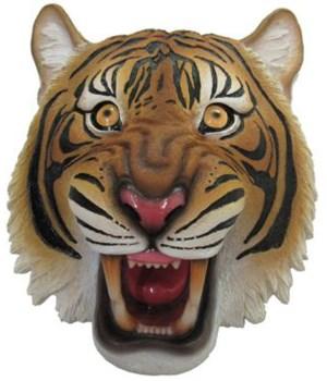"8"" Fearless Orange Tiger Wall Hanger 8PC"