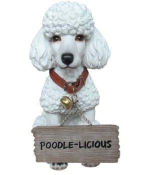 """11.5"""" Poodle With Sign 4PC"""