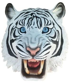 """8"""" Savage White Tiger Wall Hanger 8PC"""