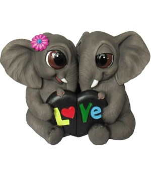 """L6.5""""  Elephants with Sign 12PC"""