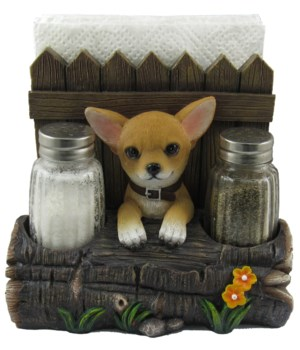 Chihuahua Napkin/S&P Combo Holder