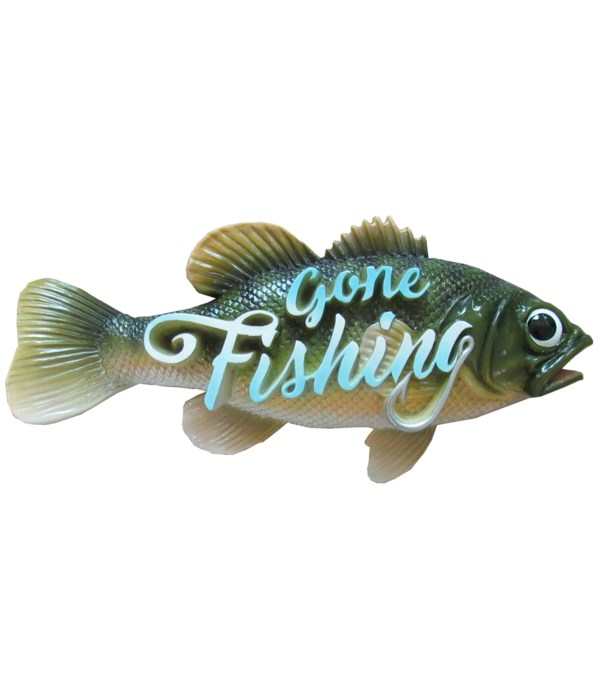 *Gone Fishing (Bass Sign) 4PC