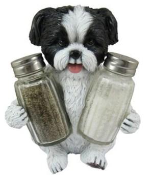 Shih Tzu Salt & Pepper Holder 12PC