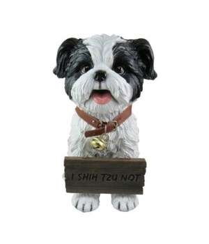 "11"" Shih Tzu with sign"