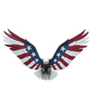 """21.5""""L  Eagle Flag Wall Hanger PC"""