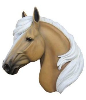 "17"" Palomino Horse Hanging Head 1PC"