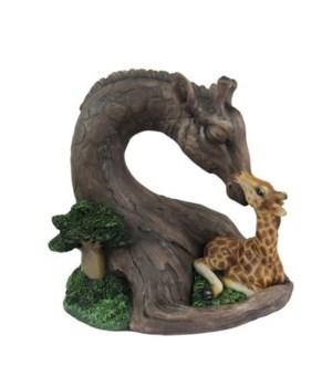 Wood Look Giraffe-Lovingly Uplifted 6PC