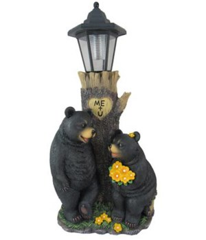 "Bear's first date lamp 18""T"