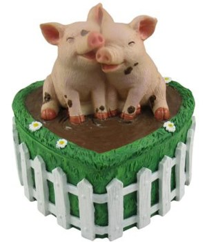 "5"" Pig Trinket Box 8PC"