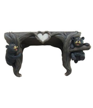 Bear Shelf-Wood Love to Hang Out 4PC