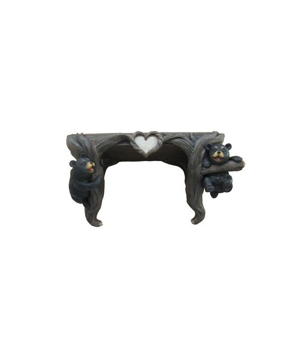 Bear Shelf-Wood Love to Hang Out 4PC