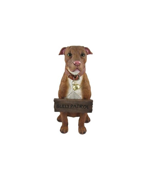 Pitbull With Sign 4PC