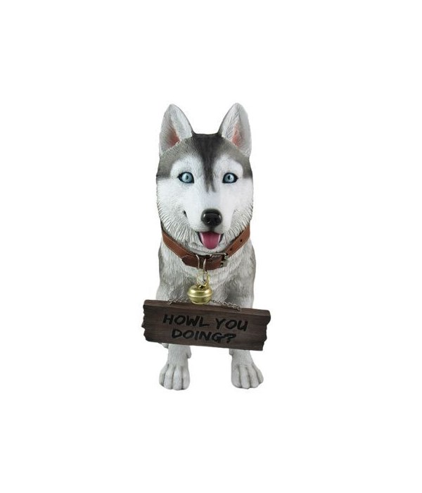 Husky With Sign 4PC