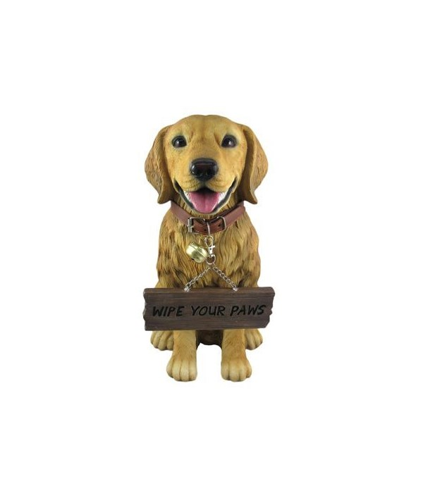 Golden Retriever With Sign 4PC