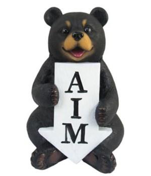Bear Bathroom Sign with Arrow 12PC