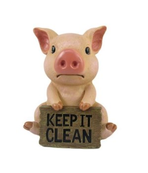 Pig Bathroom Sign- 12PC