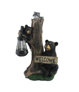 Bear Lantern-Forest Family Greetings 1PC