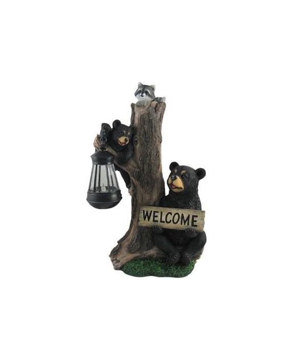 Bear Lantern-Forest Family Greetings