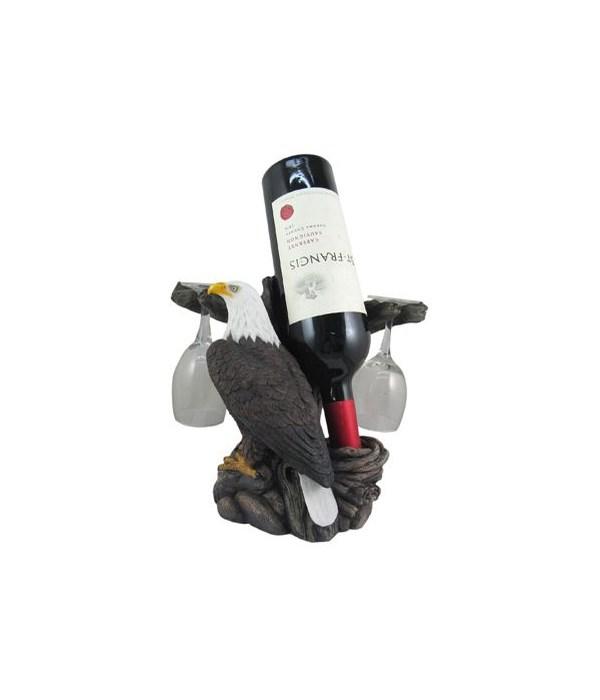 Eagle Wine Holder w/ Wine Glasses 4PC