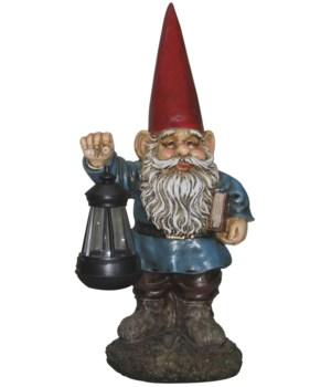 "18"" Gnome w/Solar Lantern 1PC"