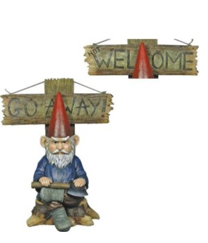 "H16"" Grinchy Gnome Go Away 1PC"