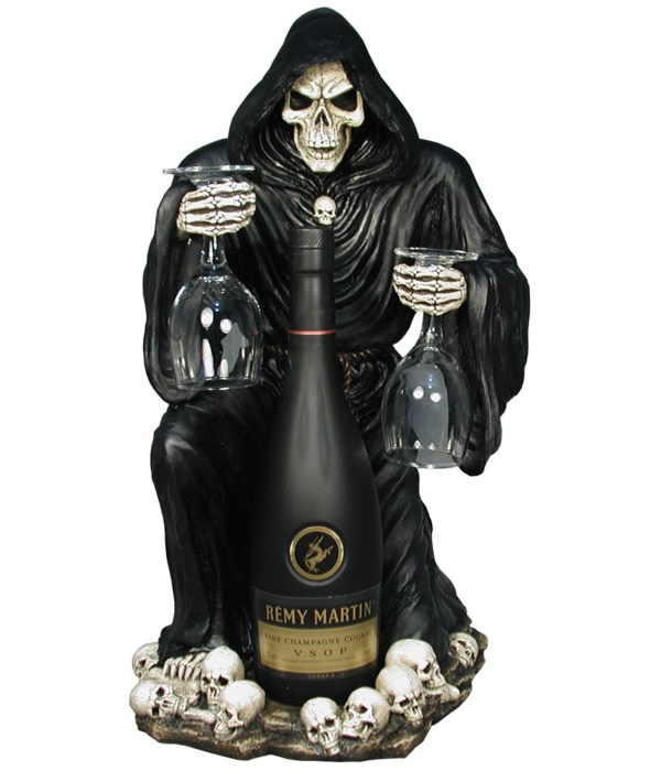 """H18"""" Skeleton Wine Holder w/ Glasses 1PC"""