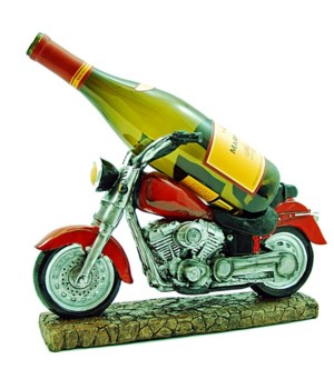 "H13"" Red Motorcycle Wine Holder 4PC"