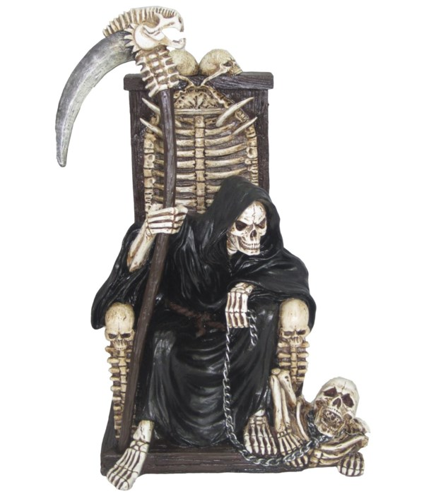 "10"" Dark Master (Skeleton On Chair) 6PC"