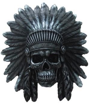 "16.25"" Indian Skull Wall Hanger 1PC"