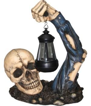 """13"""" Skeleton with Lantern 1PC"""