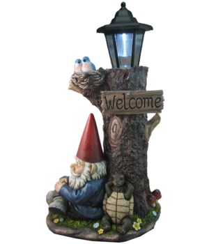 "18.25"" Gnome Tree Lantern 1PC"
